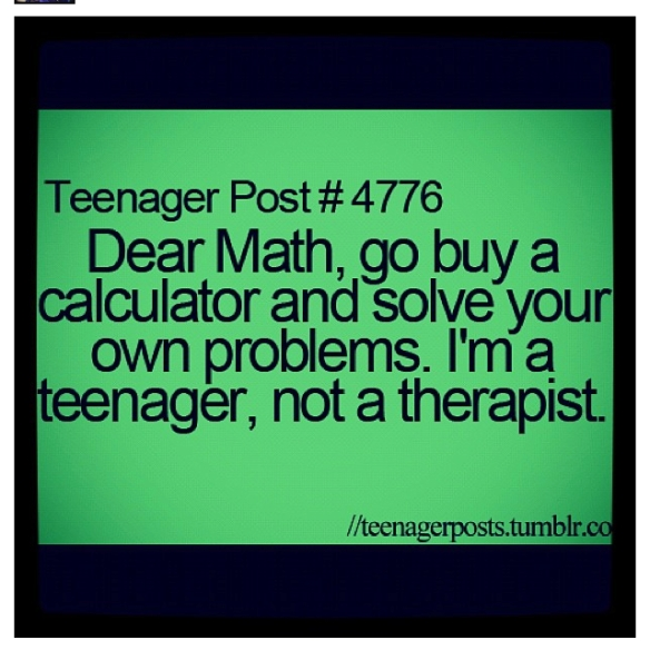 teenager posts math
