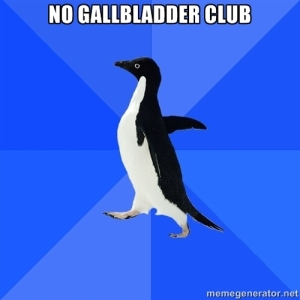 no gall bladder club
